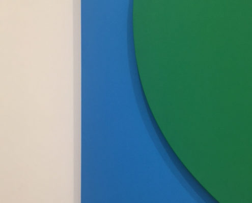 At The Broad - detail of Green Relief with Blue by Ellsworth Kelly
