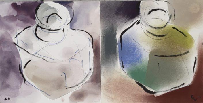 Ink Bottles 2 by George Woollard