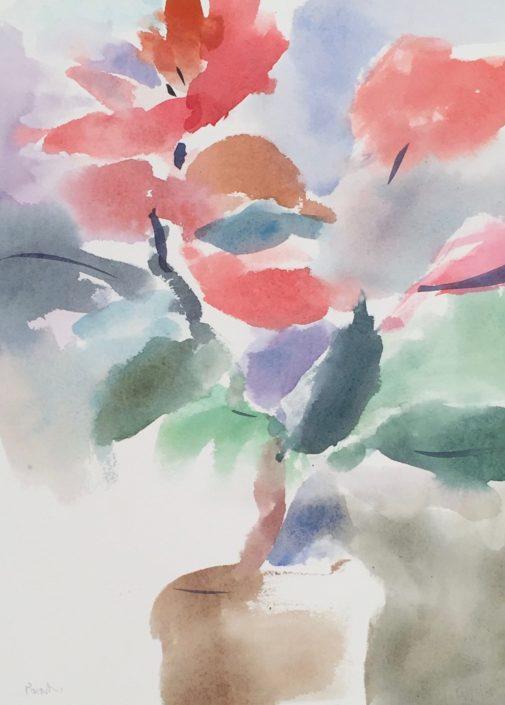 Poinsettia 1 by George Woollard