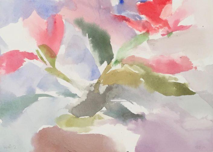 Poinsettia 2 by George Woollard